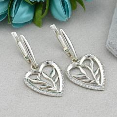 Серебряные серьги с родированием