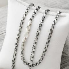 Серебряные цепочки с чернением