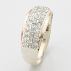 Серебряные кольца с золотыми вставками