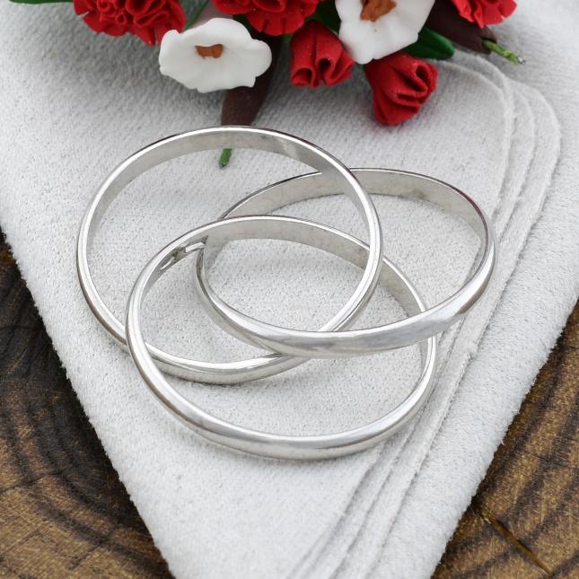 Кольцо серебряное женское тройное Вера Надежда Любовь размер 18 вес 3.65 г