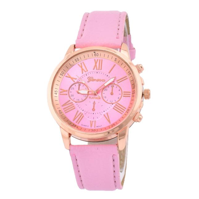 Годинник G-012розпродаж плями діаметр циферблата 4 см довжина ремінця 17-21 см світло-рожевий колір позолота РО