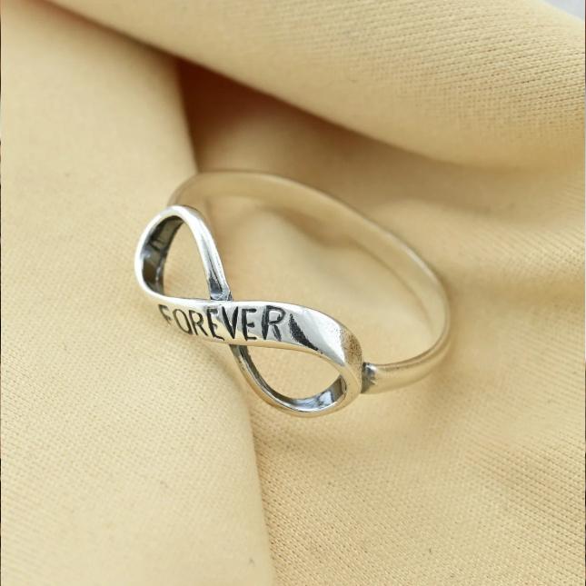 Кольцо серебряное женское Вместе Навсегда вес 1.11 г размер 19