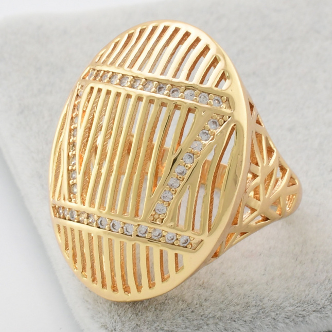 Каблучка Xuping 14379 білі фіаніти позолота 18К