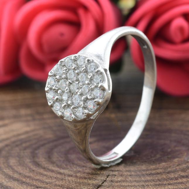 Кольцо серебряное женское Россыпь диамантов вставка белые фианиты