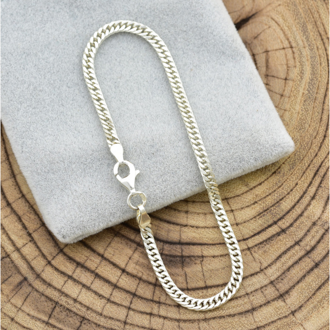Серебряный браслет Панцирный двойной ширина 3 мм