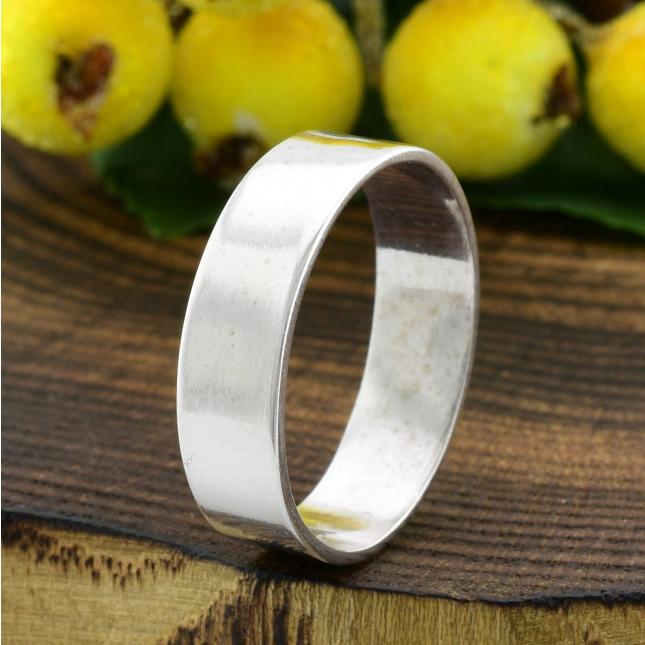 Серебряное Обручальное кольцо Американка