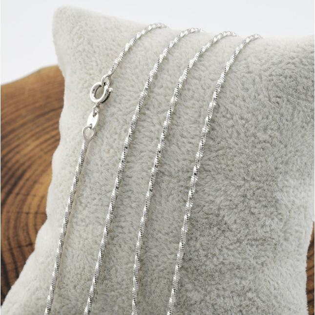 Цепочка Xuping Змейка Круглая 51677 ширина 1 мм позолота Белое золото