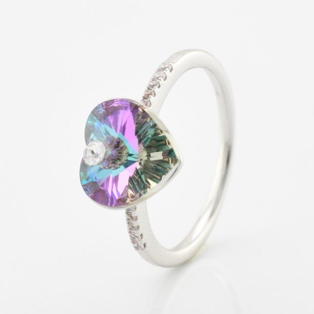 Кольцо Xuping с кристаллами Swarovski 85008 цвет райское сияние позолота Белое Золото