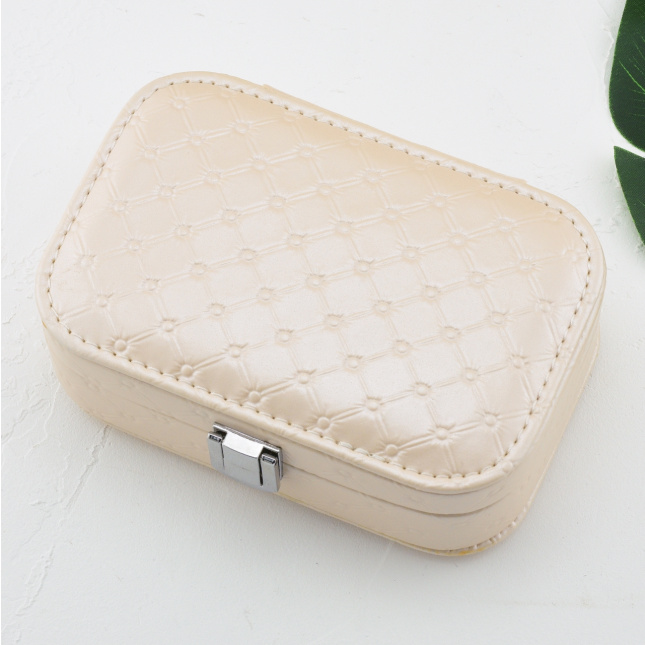 Шкатулка для украшений Премиум размер 14.5х9.5 см цвет бежевый