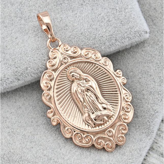 Іконка Xuping Богородиця для ланцюжка до 3 мм 30062 розмір 36х20 мм вага 4.5 г позолота РО