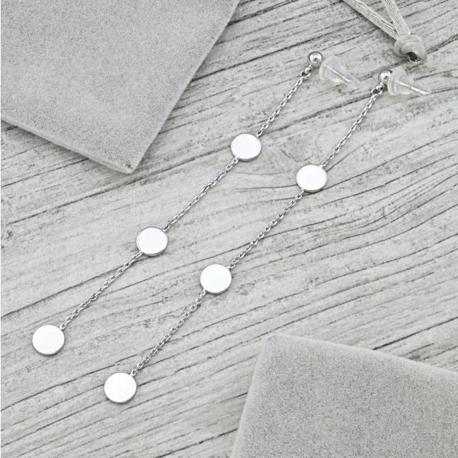Сережки Xuping 35505 розмір 100х7 мм вага 3.8 г позолота Біле Золото