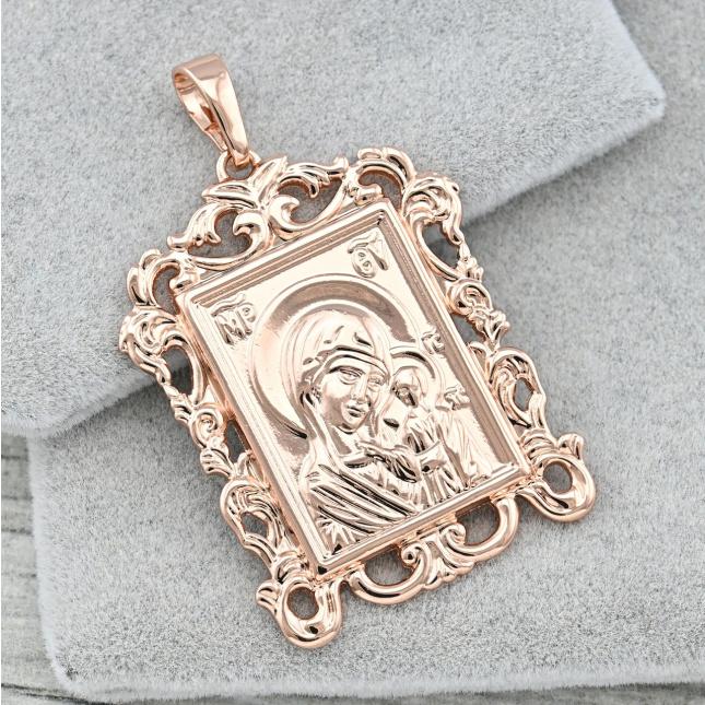 Іконка Xuping Божа Матір 35524 розмір 44х26 мм вага 6.8 г позолота РО