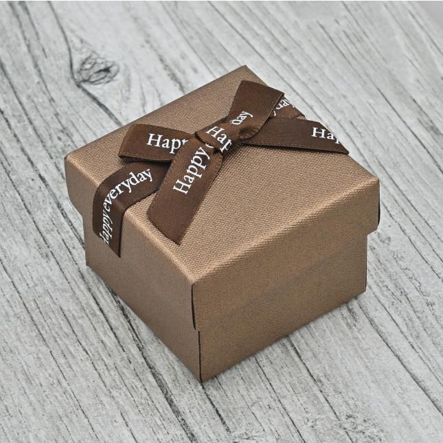 Коробочка для кілець-сережок 740152 коричневий розмір 5х3.5 см