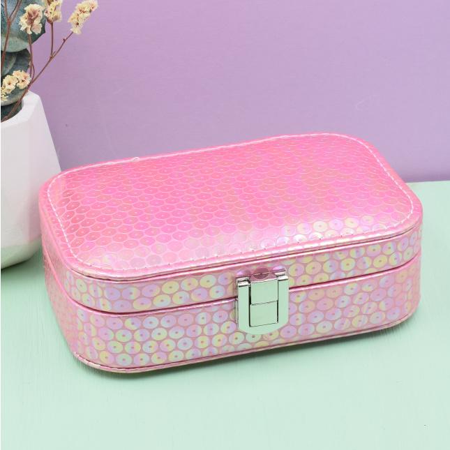 Шкатулка для украшений Премиум размер 14.5х9.5 см цвет блестящий светло розовый