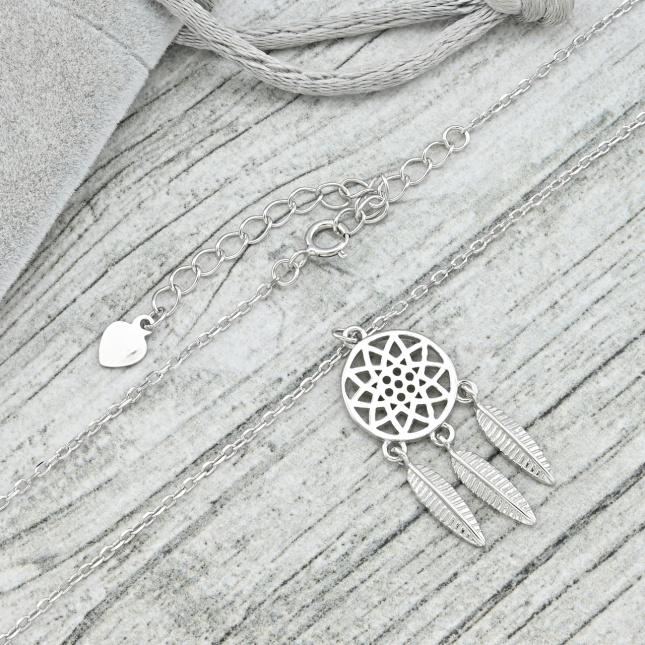 Срібне кольє ТС560217 довжина 39+6 см ширина 1 мм вага 3.45 г